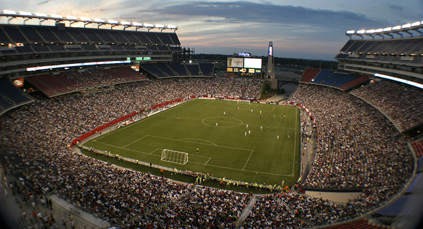 Professional soccer game