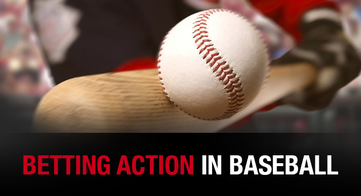 Betting action in MLB