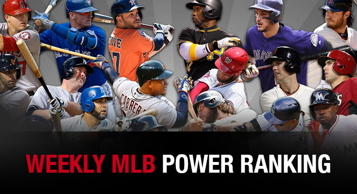 Weekly MLB POWER RANKING