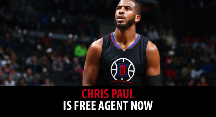 Chris Paul is a free agent now