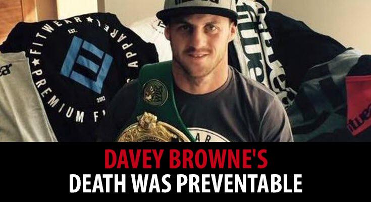 Davey Browne's death was preventable