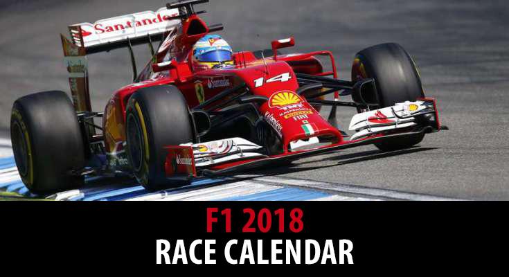 F1 2018 race calendar revealed