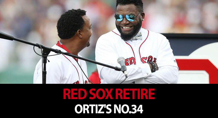 Red Sox retire Ortiz's No. 34 as tribute