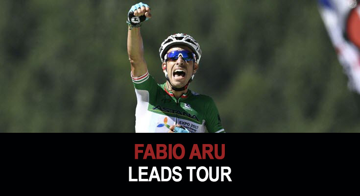 Fabio Aru leads Tour de France