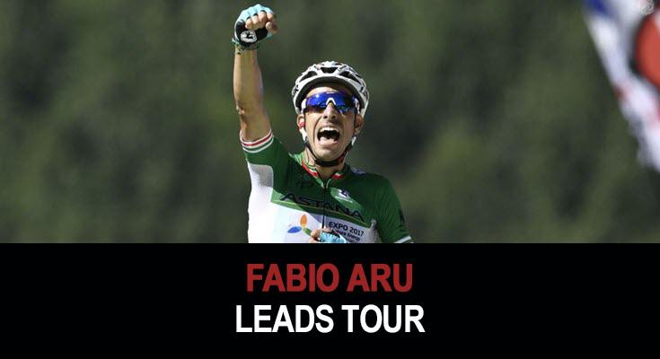Fabio Aru leads Tour de France