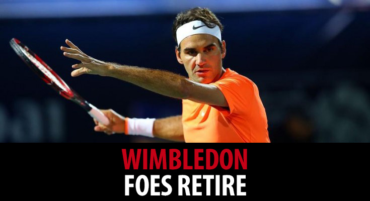 Federer and Djokovic advance after foes retire