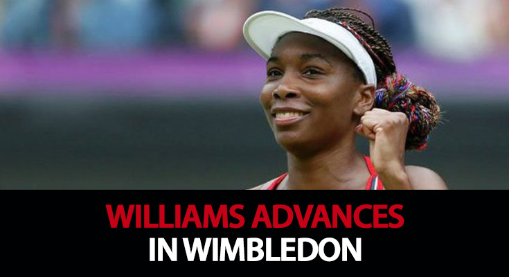 Williams advances in Wimbledon