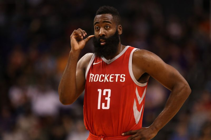 21157092d8f6 The Houston Rockets announced on Monday that All-NBA guard James Harden  suffered a Grade 2 hamstring strain during Sunday s double-overtime win  over the ...